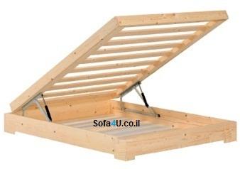 מותג חדש מיטה זוגית - בסיס מיטה+ארגז מצעים | מיטות/בסיס מיטה/ארגז מתרומם BJ-82